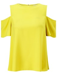 Miss Selfridge Cold Shoulder Top Chartreuse