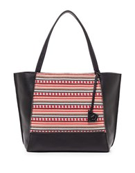 Botkier Soho Leather Tote Black Tribal