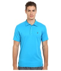 Spyder Option Polo Electric Blue Men's Short Sleeve Pullover