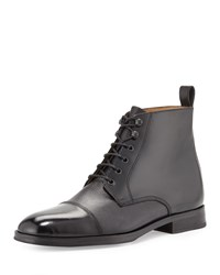 Ben Sherman Murphy Leather Cap Toe Boot Black