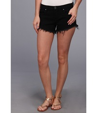 Blank Nyc Solid Gold Cut Off Short In Black Black Women's Shorts
