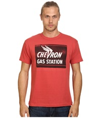 Tailgate Clothing Co. Chevron Gas Tee Red Men's T Shirt