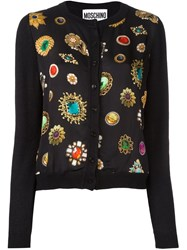 Moschino Jewel Print Cardigan Black