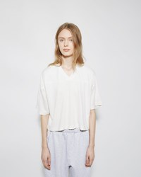 Alexander Wang Cropped Pique Tee Ivory