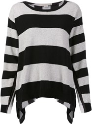 Stella Mccartney Striped Long Sleeved Top Grey
