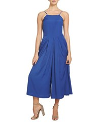 1.State Spaghetti Strap Pleated Front Jumpsuit Blue