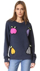 Michaela Buerger Funky Fruits Sweatshirt Denim