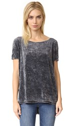Free People Velvet Doran Washed Tee Black