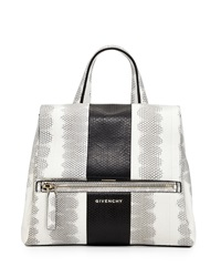 Pandora Small Watersnake Satchel Bag White Black Givenchy