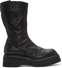 Julius Black Leather Platform Boots