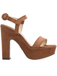Paul Andrew Platform Sandals Brown