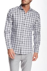 Vince Camuto Gingham Plaid Long Sleeve Slim Fit Shirt Black
