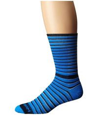 Wrightsock Cool Mesh Striped Crew Single Pack Blue Black White Crew Cut Socks Shoes