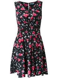 Guild Prime Floral Print V Neck Dress Black