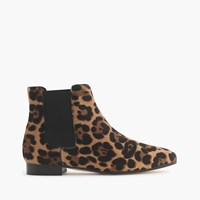 J.Crew Collection Calf Hair Chelsea Boots Hazelnut Leopard