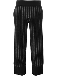 Opening Ceremony Pinstripe Knit Trousers Black