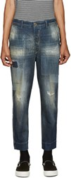 Diesel Blue Distressed Carrot Chino Jeans
