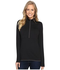 The North Face Empower Half Zip Top Tnf Black Women's Long Sleeve Pullover