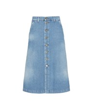 7 For All Mankind Denim Skirt Blue