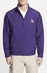 Cutter And Buck 'Minnesota Vikings Beacon' Weathertec Wind And Water Resistant Jacket College Purple
