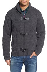 Men's Schott Nyc Cable Knit Shawl Collar Zip Cardigan