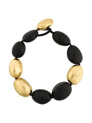 Monies Oversized Bead Necklace Black