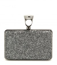 Tom Ford Micro Rock Embellished Box Clutch Silver