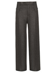 Calvin Klein Huranal Wide Leg Flannel Trousers Dark Grey