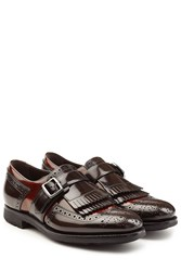 Churchs Leather Monk Shoes With Fringe Brown