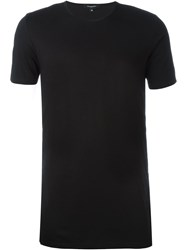Unconditional Snap Fastening Detail T Shirt Black