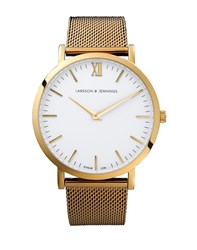 Larsson And Jennings Lugano 40Mm Gold Chain Metal Watch