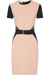 Stella Mccartney Taylor Mesh Trimmed Crepe Dress Nude