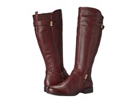 Naturalizer Joan Wide Calf Wine Leather Women's Wide Shaft Boots Burgundy