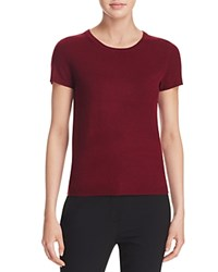 Bloomingdale's C By Short Sleeve Cashmere Sweater Cabernet