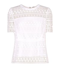 Elie Tahari Diondra Lace Top Female White