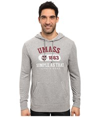 Life Is Good Umass Hoodie Heather Grey Men's Clothing Gray