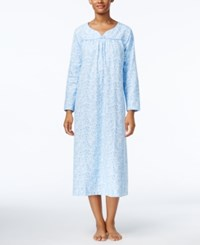 Charter Club Printed Flannel Nightgown Only At Macy's Blue Scroll