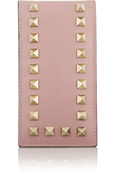 Valentino Studded Leather Iphone Case Pink