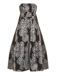 Erdem Alina Metallic Jacquard Strapless Dress