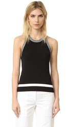 Rag And Bone Lucine Halter Top Black White