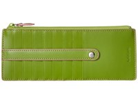 Lodis Audrey Card Case With Zip Pocket Kiwi Pink Credit Card Wallet Green