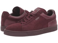 Puma Suede Classic Casual Emboss Winetasting Men's Basketball Shoes Burgundy