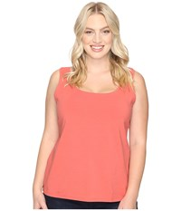 Nic Zoe Plus Size Perfect Tank Spice Rose Women's Sleeveless Orange