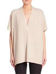 Vince Wool And Cashmere Tunic Light Heather Marzipan