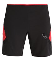 Gore Running Wear Air 2In1 Sports Shorts Black Red
