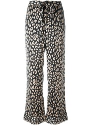Equipment Printed Straight Trousers Black