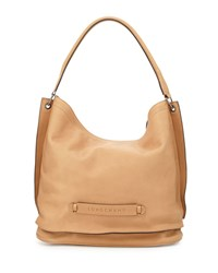 Longchamp 3D Leather Hobo Bag Nude
