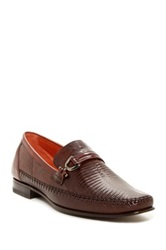 Mezlan Genuine Lizard Loafer Brown