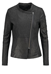 Y.A.S Yas Yasnappalon Leather Jacket Black