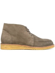Tomas Maier Lace Up Ankle Boots Grey